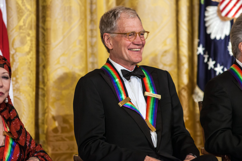 Comedian David Letterman attended the Kennedy Center Honors reception at the White House on December 2, 2012 in Washington, DC. The Kennedy Center Honors recognizes individuals for their lifetime contributions to American culture through the performing arts.