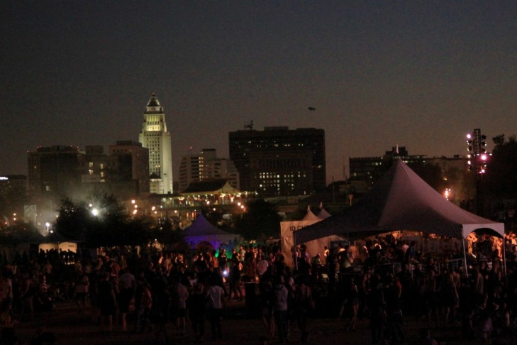 Just a few of the 20,000 people gathered at FYF Fest at at Los Angeles State Historic Park on Sept. 1, 2012.