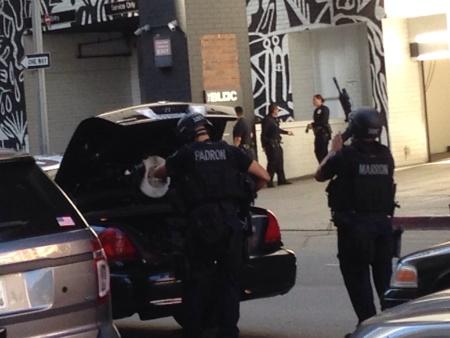 shooting LAPD downtown LA