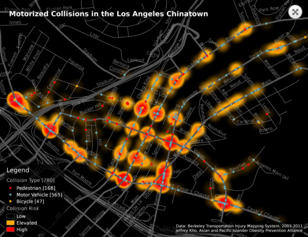 Chinatown heat map