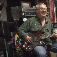 Bassist and composter Mike Watt in his San Pedro practice space