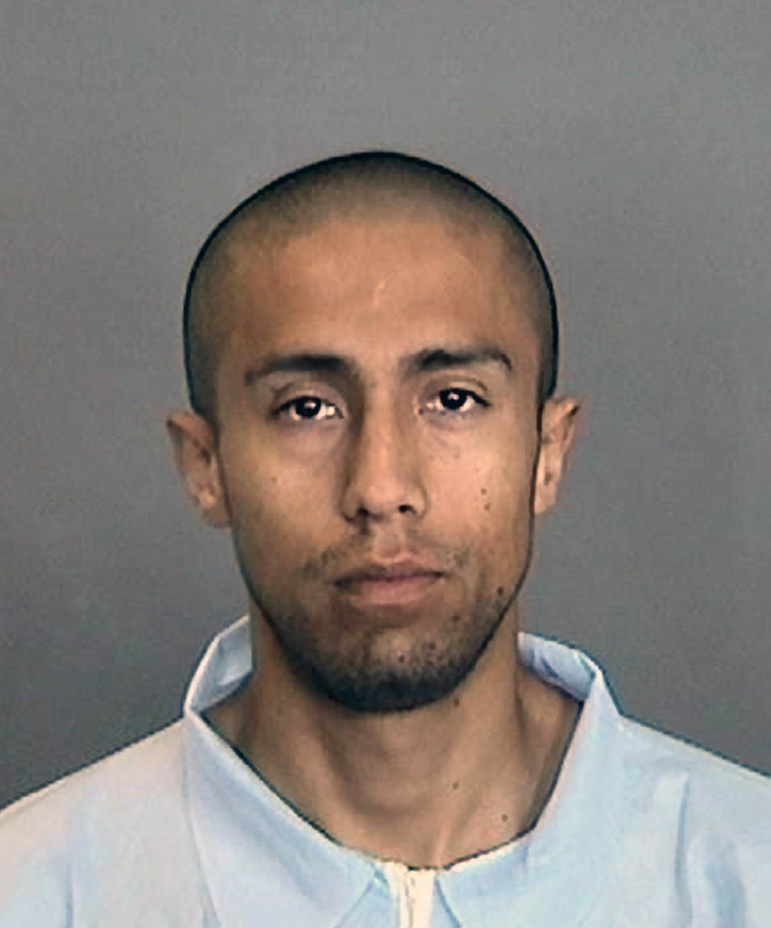 Anaheim Police Department photo of Itzcoatl Ocampo. The former Marine is accused of killing four homeless men in Orange County.