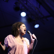 US singer Neneh Cherry performs during t