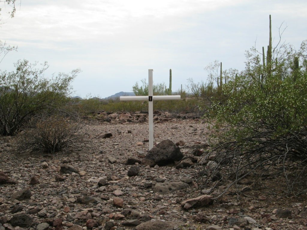 This summer the Maricopa County Sheriff's Office began to erect crosses marked with GPS coordinates in the places where bodies are discovered in the desert.