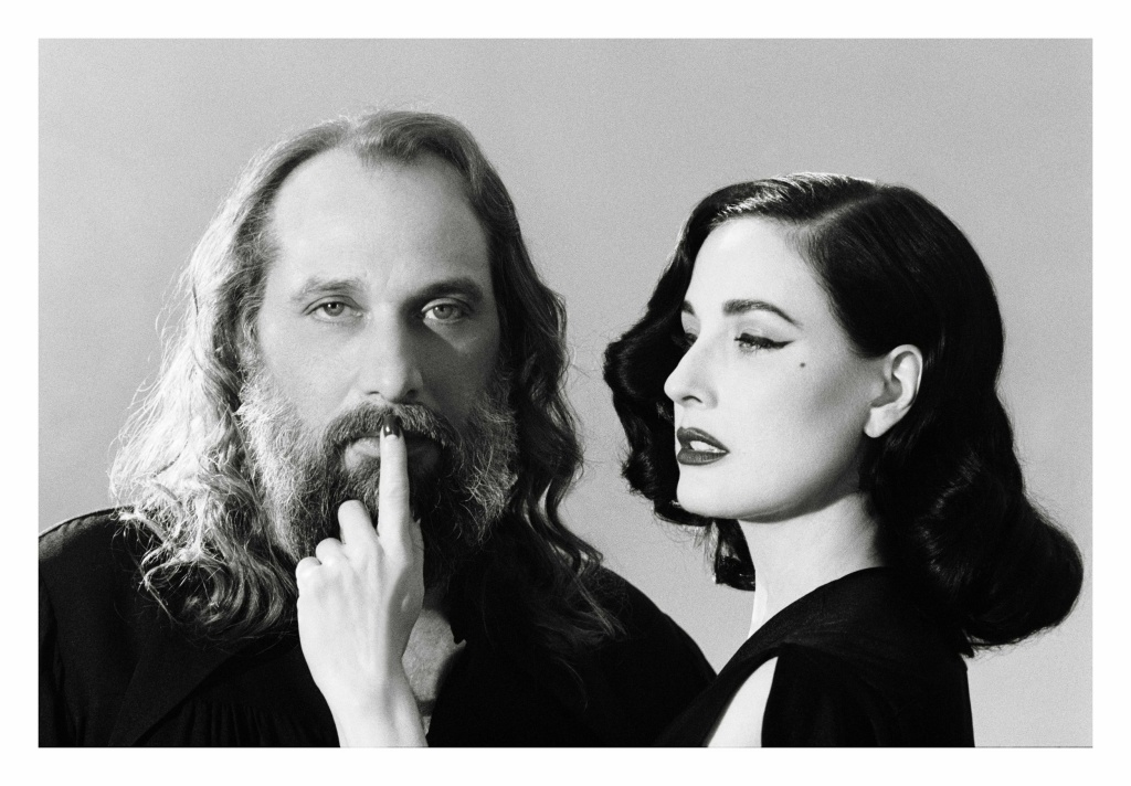 French singer and songwriter Sébastien Tellier with Dita Von Teese.