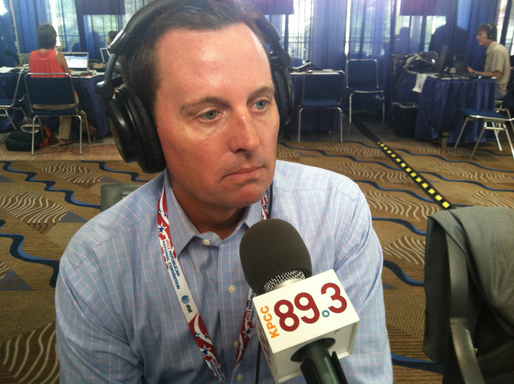 Richard Grenell sits down for an interview with Larry Mantle at the 2012 Republican National Convention.