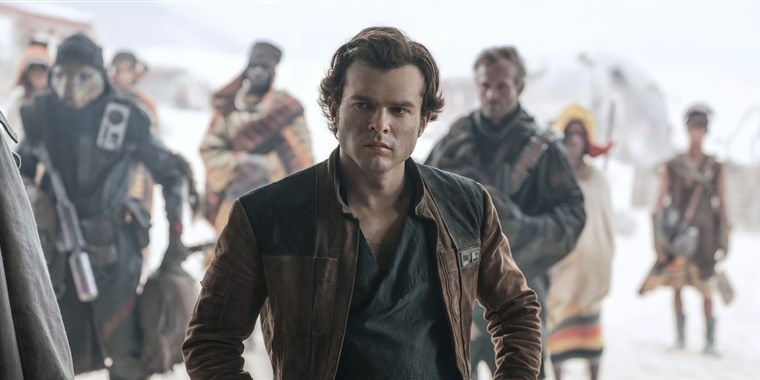 Alden Ehrenreich as Han Solo in Disney's SOLO: A STAR WARS STORY.