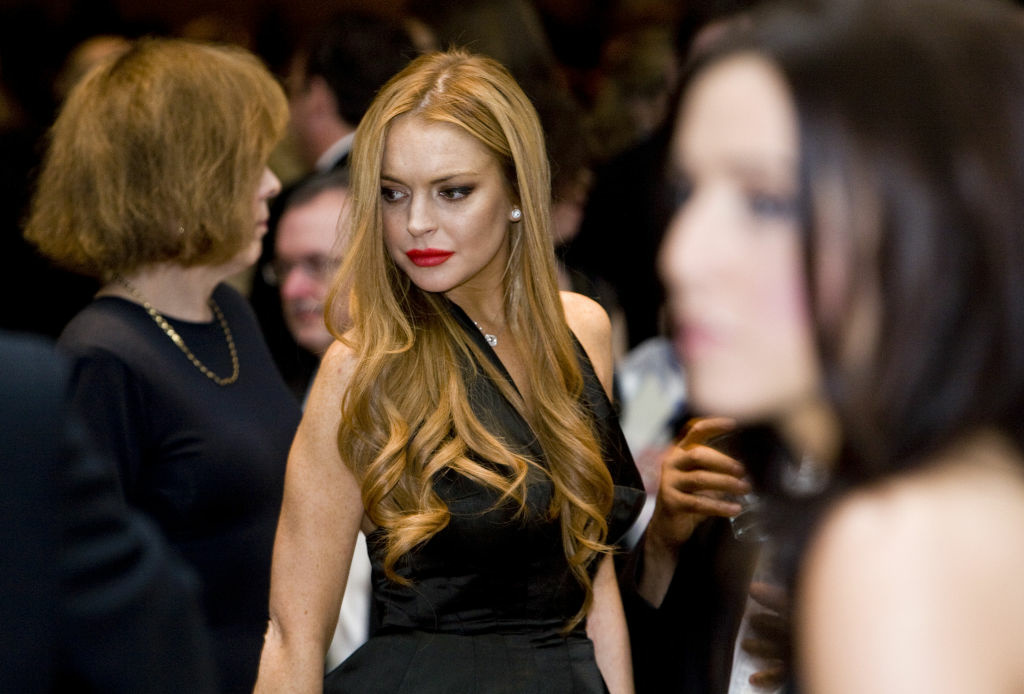 Lindsay Lohan at the 2012 White House Correspondents' Association Dinner.