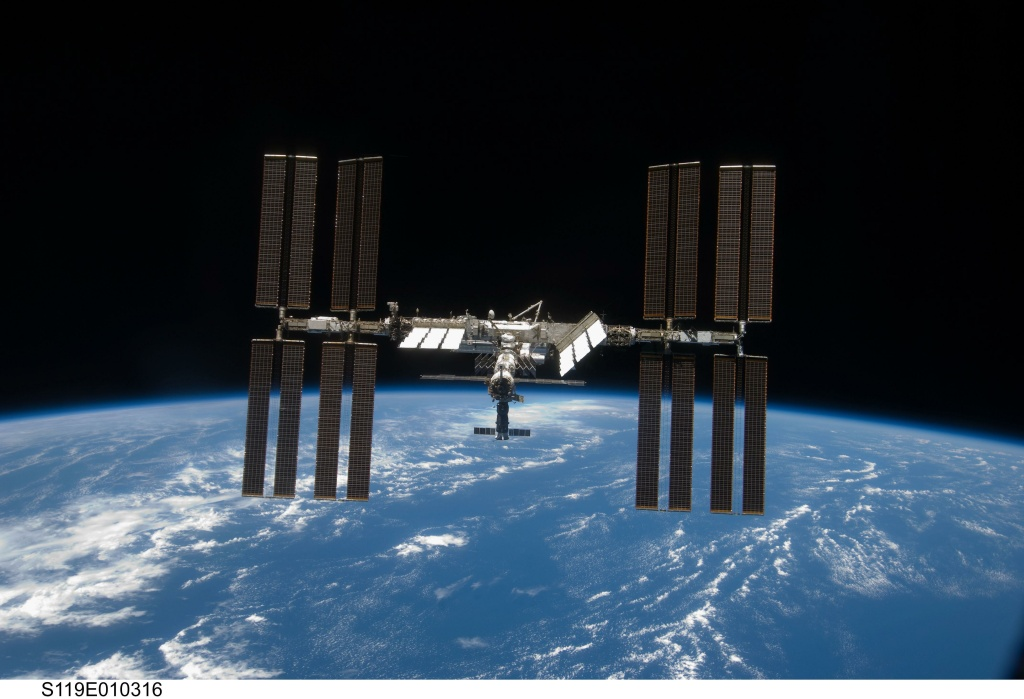 A view of the International Space Station courtesy of the U.S. Army Defense Video & Imagery Distribution System.