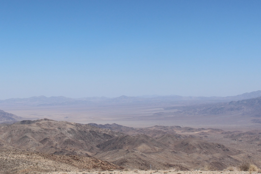 Haze in Joshua Tree National Park on June 26, 2018, a day with high ozone levels.