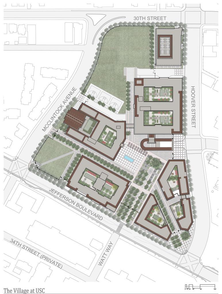 Slideshow USC breaks ground on 650 million campus village – Usc Village Housing Floor Plans