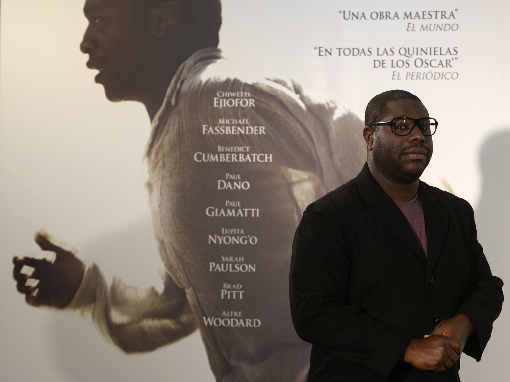 British film director Steve McQueen poses during the presentation of '12 Years a Slave' in Madrid on December 9, 2013.