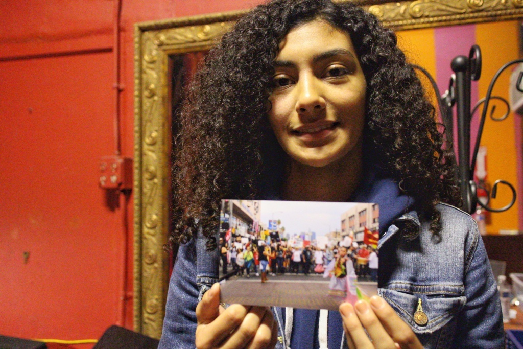 Maya Rosado, 14, is part of a Las Fotos Project program where teen girls document health issues in their communities. She chose to follow an activist and how she maintains mental wellness.