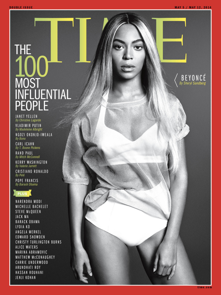 This image released by Time shows entertainer Beyoncé on the cover of the magazine's