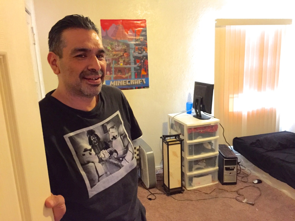 Javier Jimenez, 45, got his family into a 2-bedroom apartment in Hyde Park with the help of rental assistance known as rapid re-housing.