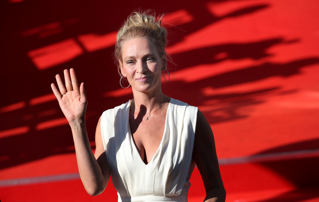 Uma Thurman arrives at the opening ceremony of the 52st Karlovy Vary International Film Festival  on June 30, 2017 in Karlovy Vary, Czech Republic.