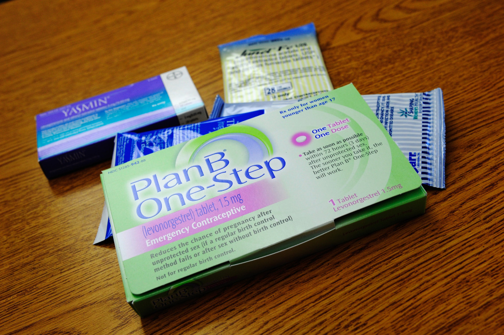 File: Prescription contraceptives for women sit on the counter of a drug store on August 1, 2011 in Los Angeles.