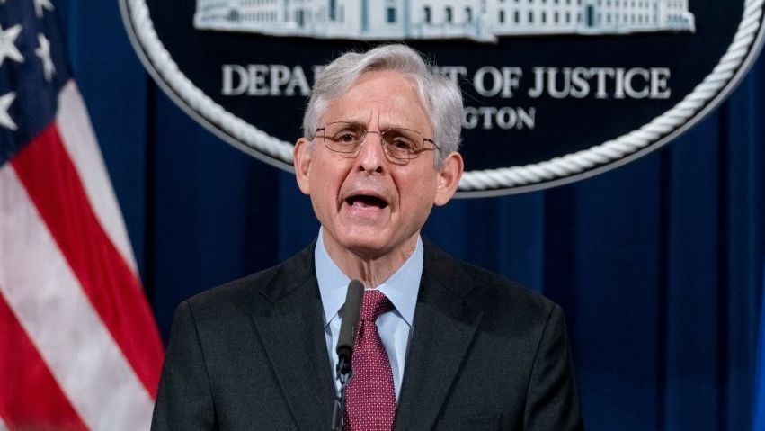 Attorney General Merrick Garland announces a Justice Department probe of possible patterns of excessive force and discrimination by the Minneapolis Police Department on Wednesday.
