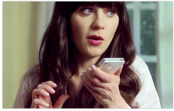 Zooey Deschanel in an Apple iPhone ad