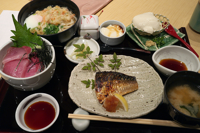 Washoku, traditional Japanese cuisine.
