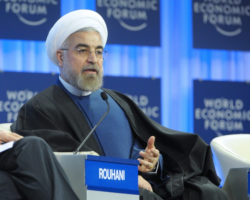 Iranian President Hassan Rouhani addresses the World Economic Forum in Davos on January 23, 2014. Some 40 world leaders gather in the Swiss ski resort Davos to discuss and debate a wide range of issues including the causes of conflicts plaguing the Middle East, and how to reinvigorate the global economy.