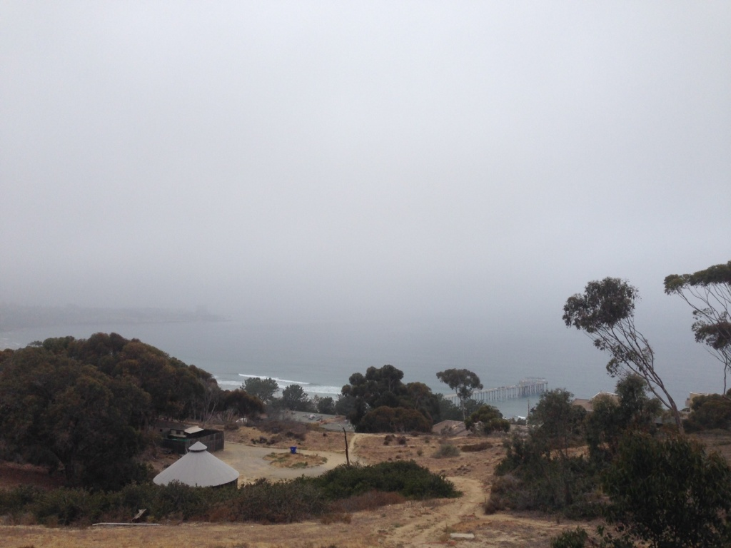A perfect example of June Gloom as seen in La Jolla on June 9th, 2014.