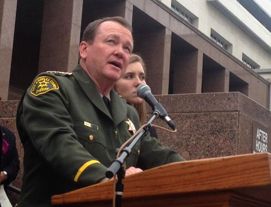 Shortly after his swearing in, new L.A. Sheriff Jim McDonnell said he's happy to hear about the White House's plan to use federal funding to supply body cameras to officers.