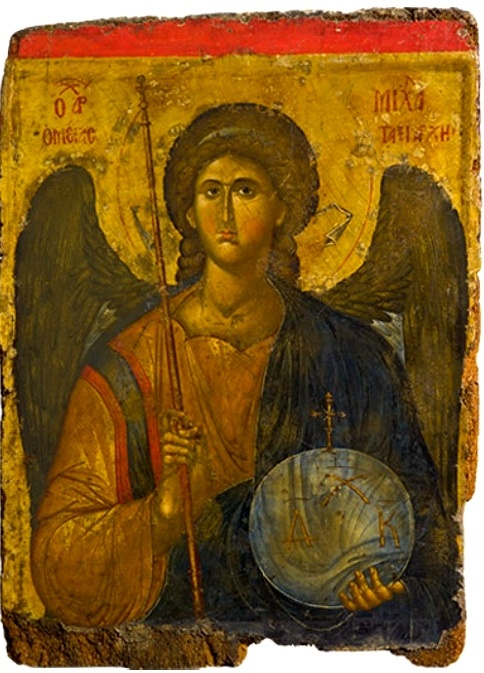 Icon with the Archangel Michael, about A.D. 1300–1350, Constantinople; tempera and gold on wood. Gift of a Greek of Istanbul, 1958