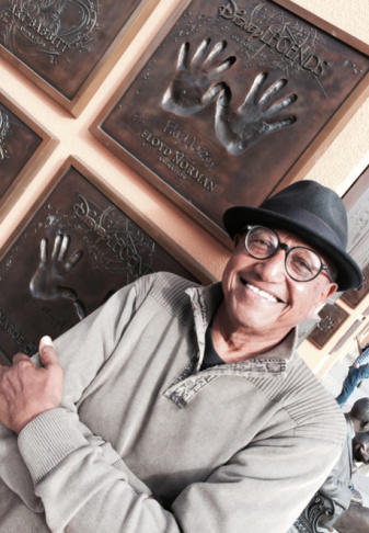 Artist and animator Floyd Norman in his office.