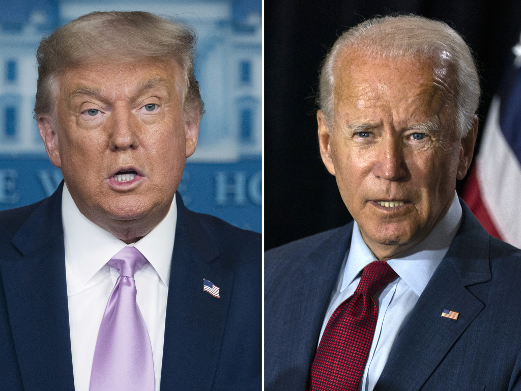 Voters are sharply divided along partisan lines and their views on President Trump and Joe Biden when it comes to the economy and the pandemic, according to a massive poll conducted by The Associated Press.