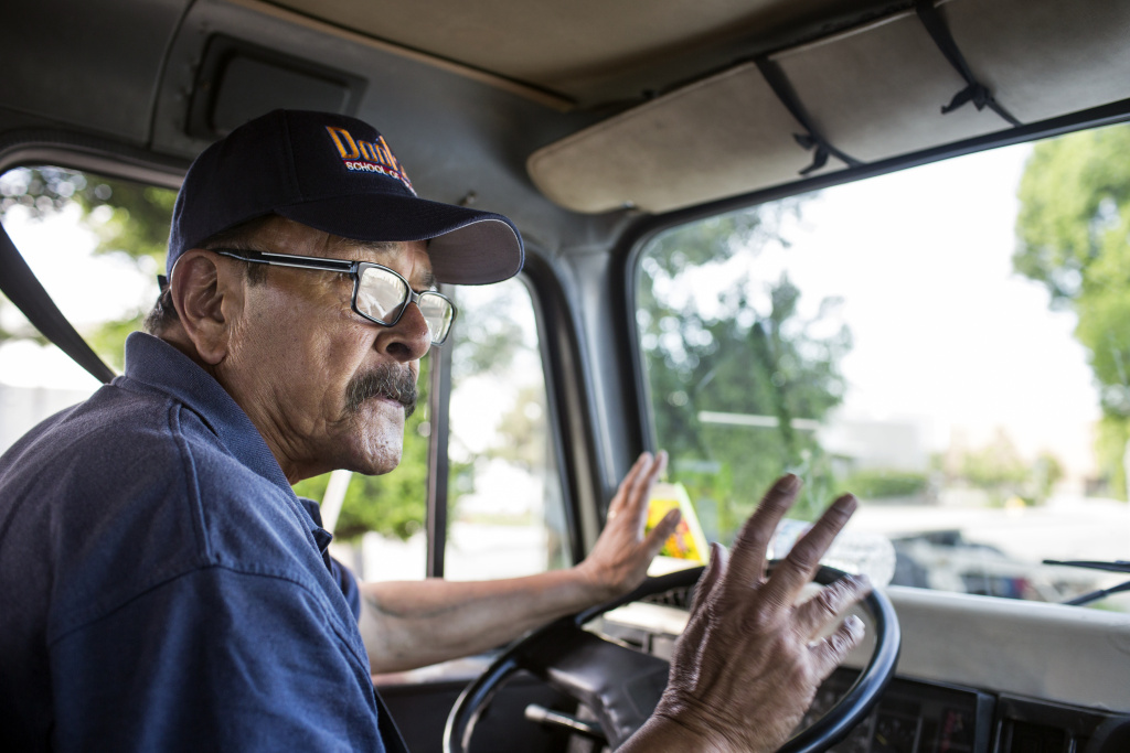 Rudy Quiroz is a supervising state-certified instructor at Dootson School of Trucking in El Monte. The family-owned school first opened in 1951.