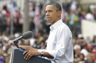 President Barack Obama delivers a speech during a Labor Day event sponsored by the Metro Detroit Central Labor Council on September 5, 2011 in Detroit, Michigan.