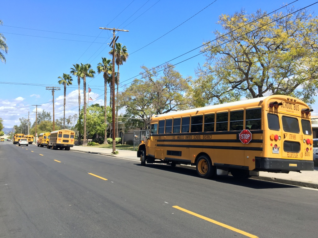 Los Angeles Unified School District buses