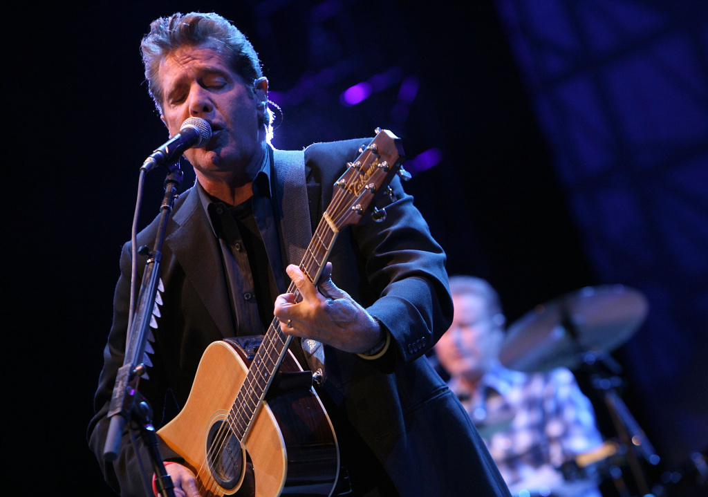 Musician Glenn Frey of the Eagles performs during day 1 of Stagecoach, California's Country Music Festival held at the Empire Polo Field on May 2, 2008 in Indio, California. Frey died Monday. He was 67 and had been battling multiple ailments. The band's website says he died in New York.