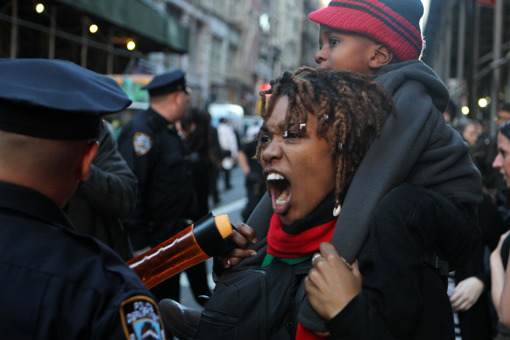 New York, NY-April 29: New Yorkers protest the death of Baltimore, Maryland Police victim Freddie Gray in a show of solidarity in the Union Square section of New York City on April 29, 2015 in New York City. Credit: RTNJennings/MediaPunch/IPX