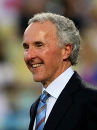 Embattled Dodgers owner Frank McCourt  at Dodger Stadium in Los Angeles, California.