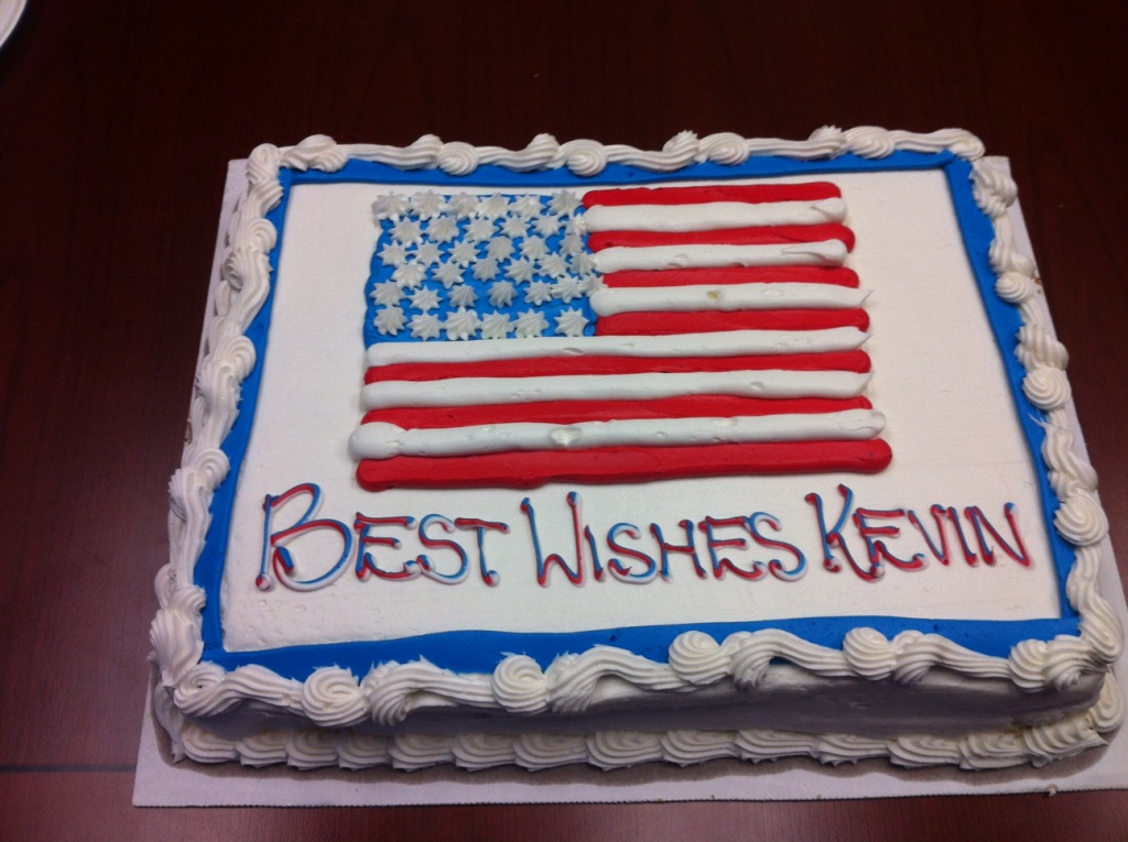 Kevin Ziober's last day at the office started with a sheet cake.