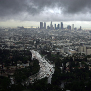 skyline rainy storm Southern California Rainy Season Could Break All Records