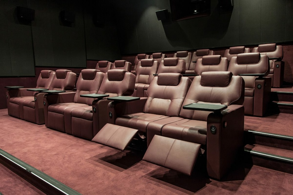The Frame Cocktail carts luxury seats 4DX How movie theaters