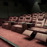 Figueras International Seating theater chairs in the Falcon Theater in Belarus.