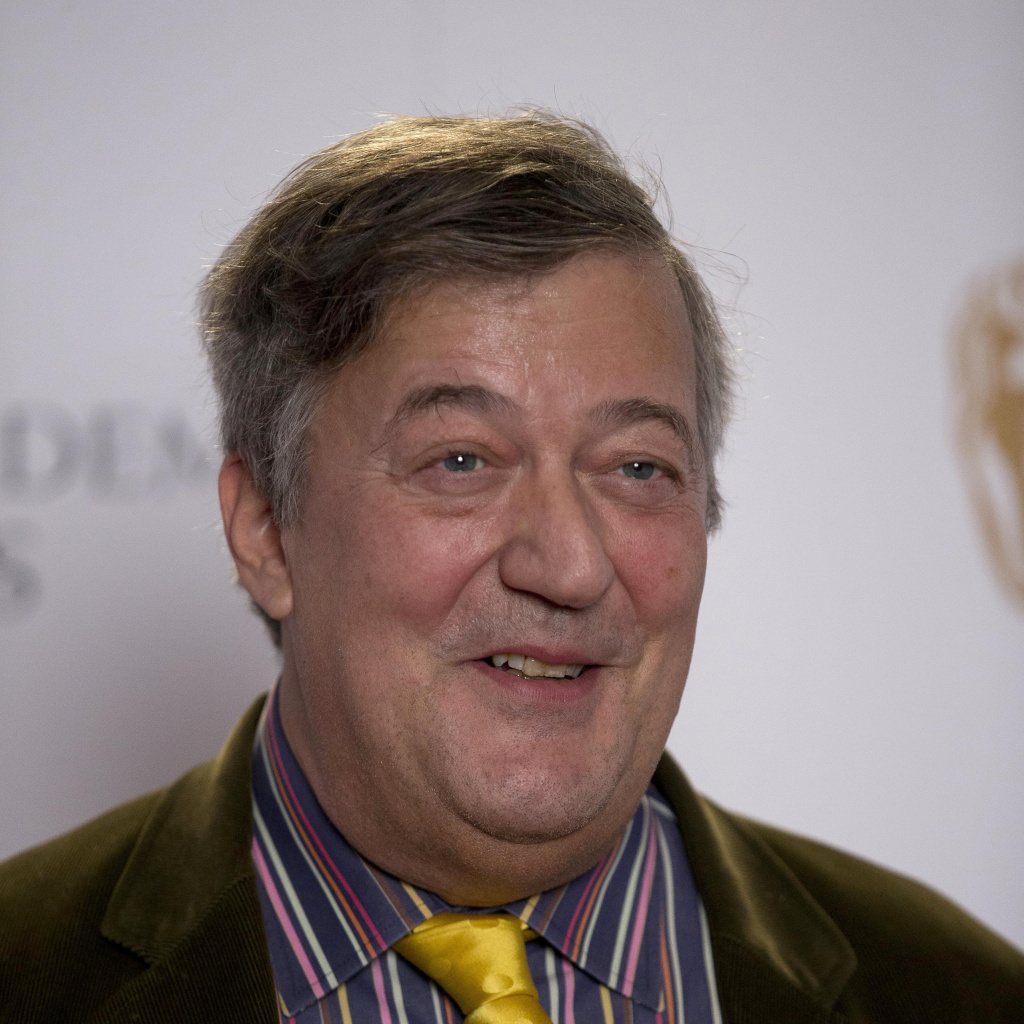 British actor and comedian Stephen Fry at the BAFTA (British Academy of Film and Television Arts) award nominations in London, earlier this month.