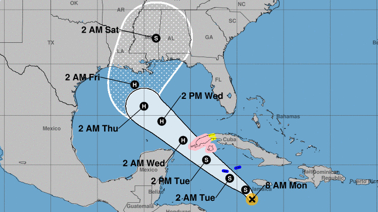 Tropical Storm Delta will likely become Hurricane Delta as it passes from the Caribbean and heads toward the northern coast of the Gulf of Mexico, forecasters say.