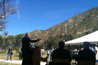 National Forest Foundation press conference in the Angeles National Forest, April 15, 2011