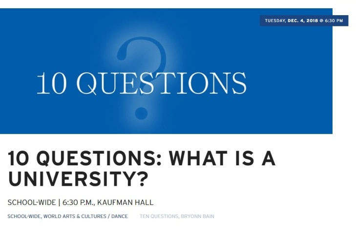 UCLA School of the Arts and Architecture - 10 Questions: What is a University?