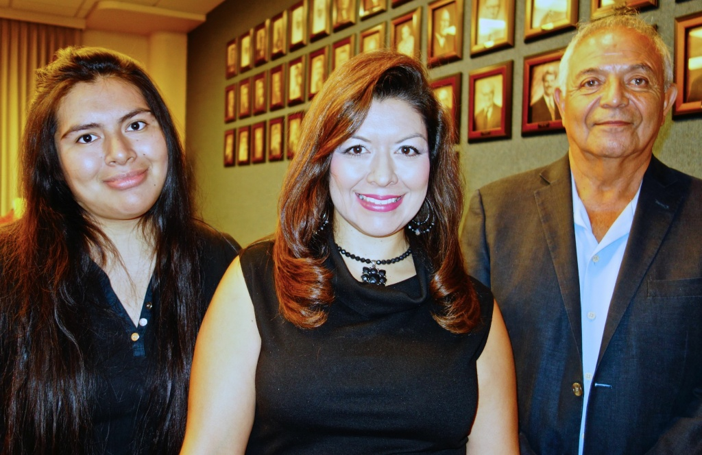 Whittier College student Jafet Diego, homemaker Lisa Lopez and attorney Miguel Garcia (L-R) are the three Whittier residents who sued the city under the California Voting Rights Act.