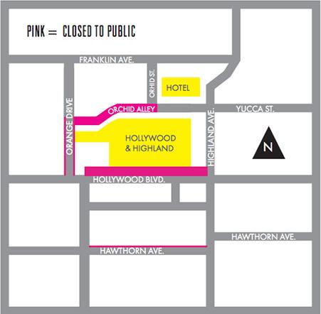 Map: Oscars street closures Feb. 11