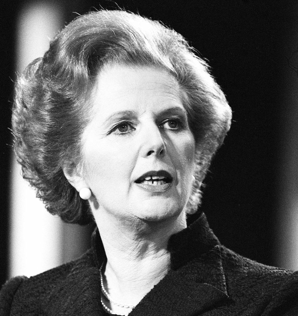 Prime Minister Margaret Thatcher in 1981. She died Monday, at 87. Off-Ramp commentator Marc Haefele says Argentina owes her a debt of gratitude.