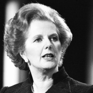 Prime Minister Margaret Thatcher in 1981. She died Monday, at the age of 87.