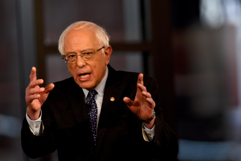 Democratic presidential candidate Sen. Bernie Sanders, seen during a Fox News town hall in April, has suggested that prisoners should be allowed to vote.