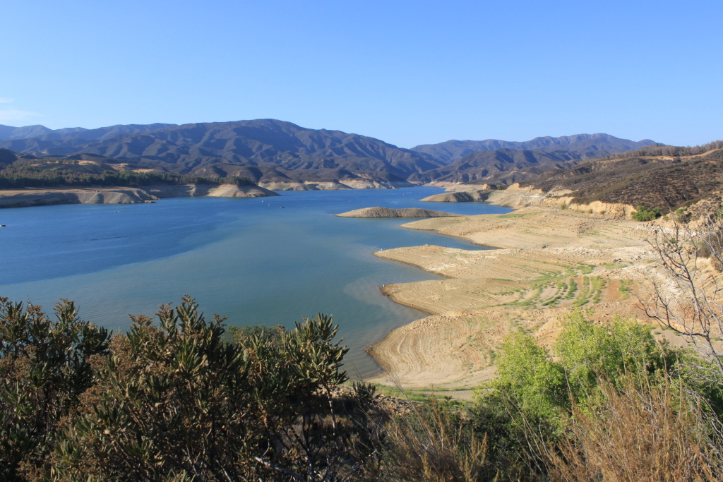Castaic Lake on July 21, 2014. Swimming at Castaic Lake has been prohibited because of low water levels.